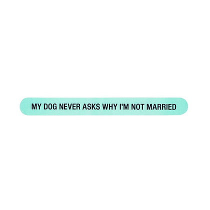 My Dog Never Asks Why I'm Not Married nail file