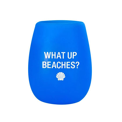 What Up Beaches? Silicone Wine Glass