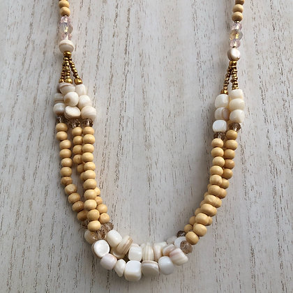 Sandy Beaches layered necklace