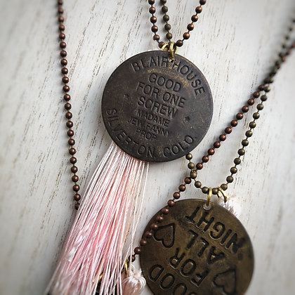Brothel Coin & Tassel Necklace