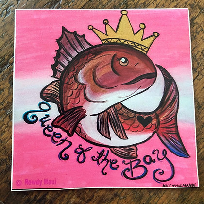 Queen of the Bay Decal
