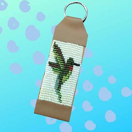 Hummingbird Hand Beaded keychain