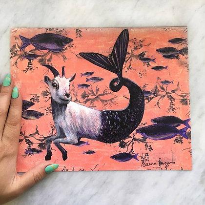Goat Mermaid Print