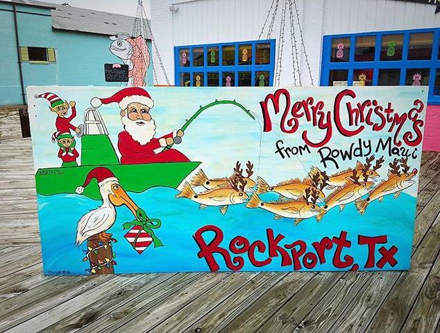 A Rockport kind of Christmas 🎣 #rowdyma