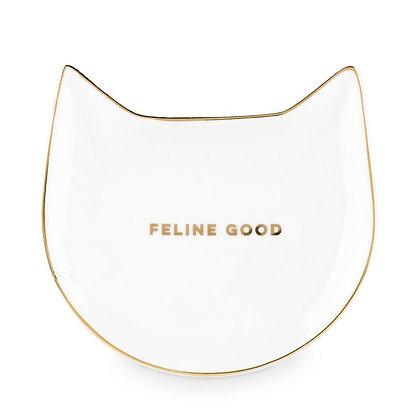 Feline Good Ceramic Tea Tray
