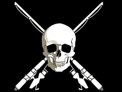 pirates of the bay fishing guide charter trip bay fishing logo pirate skull port aransas rockport gulf coast texas shallowsport