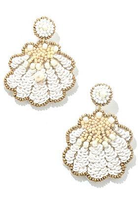 Seashell Beaded Earrings