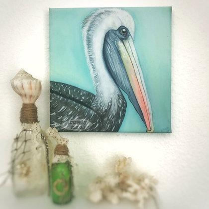 Pelican 8x8 canvas print