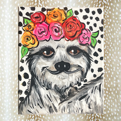 Funky Sloth Painting 8x10