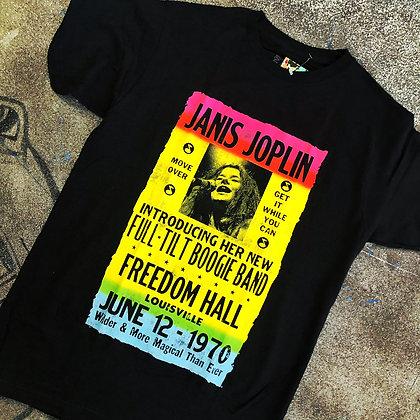 Janis Joplin fitted jersey tee