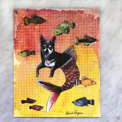 Chihuahua Dog Mermaid Print