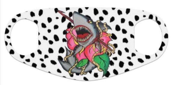 Harpoon Hibiscus Shark Neoprene Mask