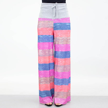 Pacific Highway Striped Colorblock Maxi Pants