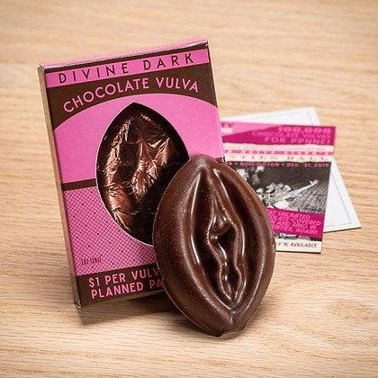 Dark Chocolate Vulva