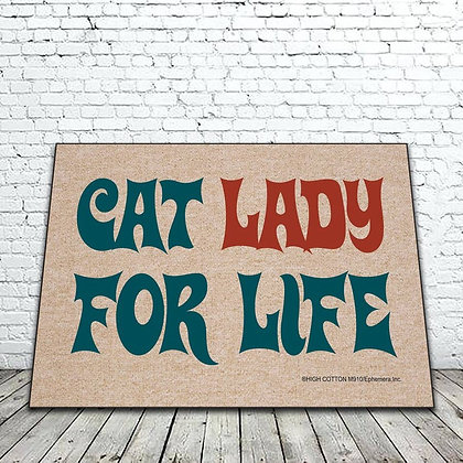 Cat Lady for Life floor mat