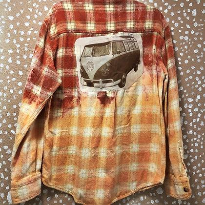 VW Hippie Bus Re-Rocked Vintage Flannel (Large)