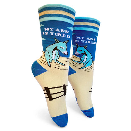 My Ass Is Tired womens crew socks