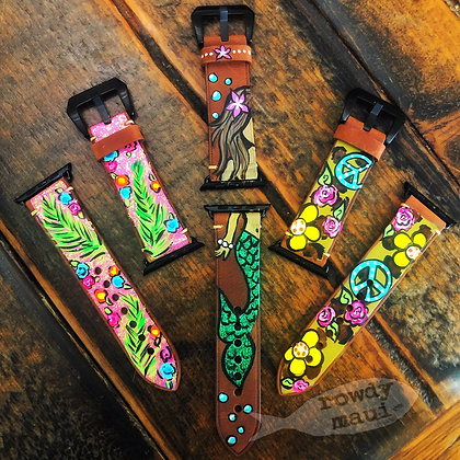 CUSTOM Painted Apple Watch bands