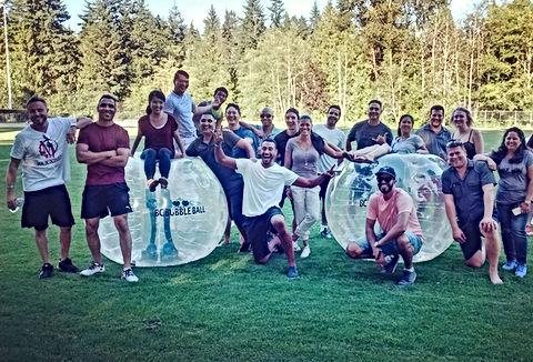 corporate event bubble ball