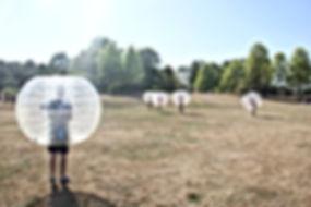 corporate event bubble soccer
