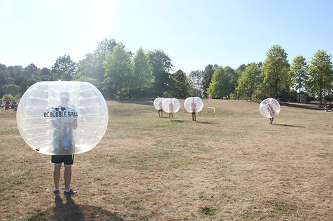 corporate event bubble soccer