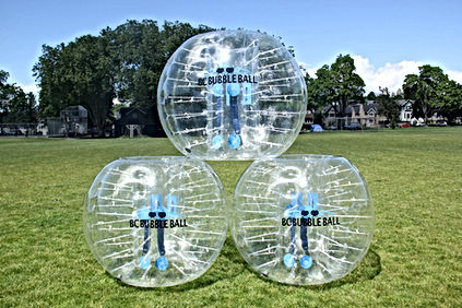 Bubble ball suits ready for action