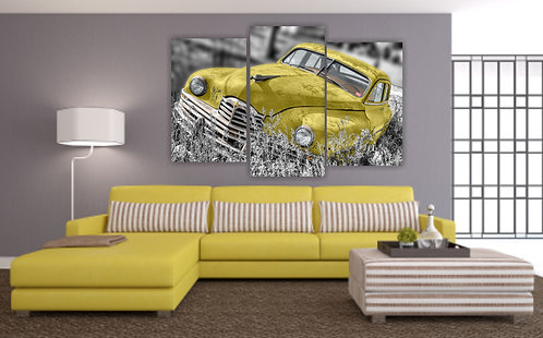 Stari žuti auto