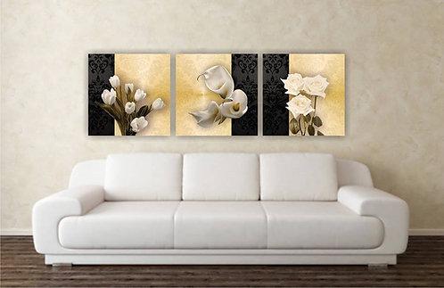 Bele lale, kale i ruže