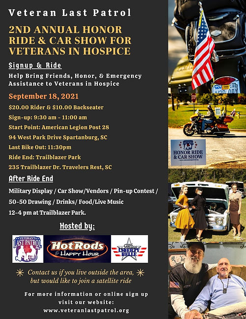 Honor Ride for Veterans in Hospice