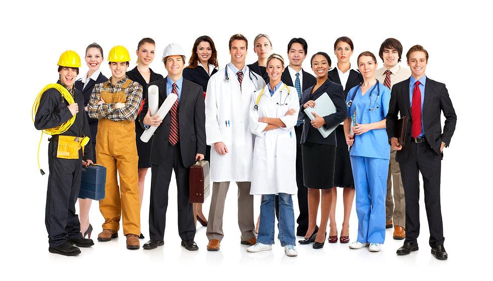 Businessman, builder, nurse, architect.