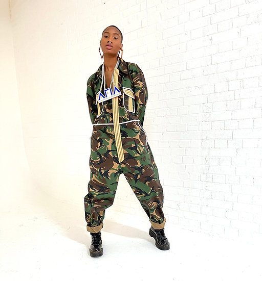 Camouflage boiler suit