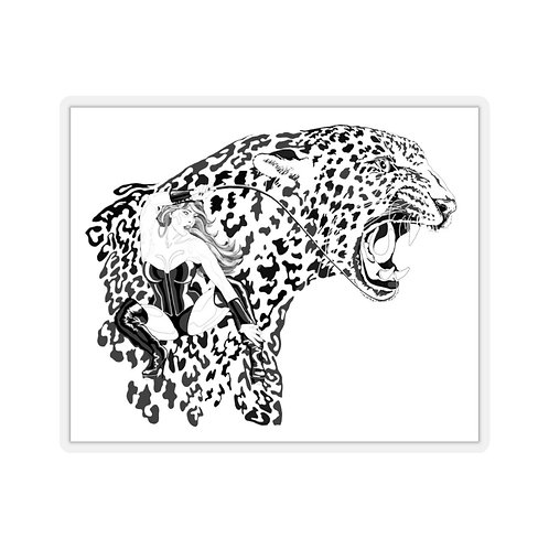 Phoenix the Jaguar Kiss-Cut Stickers
