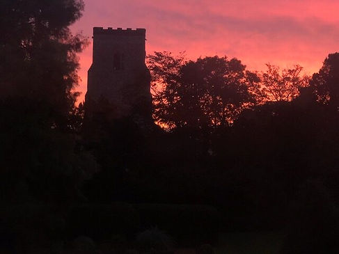 St. Mary's Church at sunset