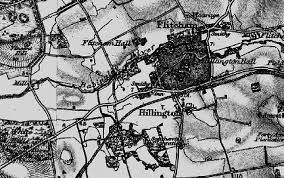 17th Century Map of Hillington