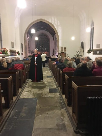 A service taking place in St. Mary's Church