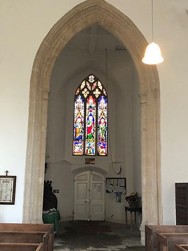 Full length Stained Glass Window