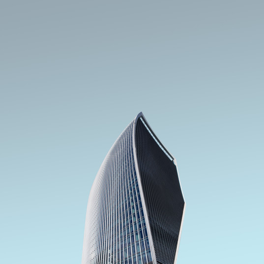 Canva - Blue building with a modern arch