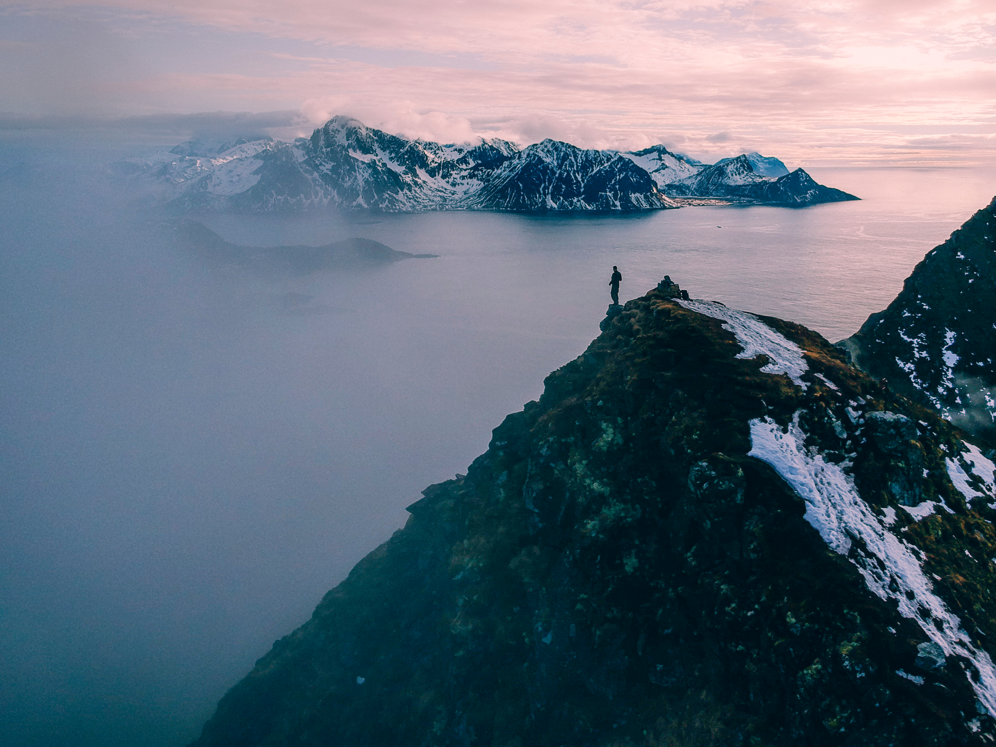 Canva - Mountain and sea view in Norway.