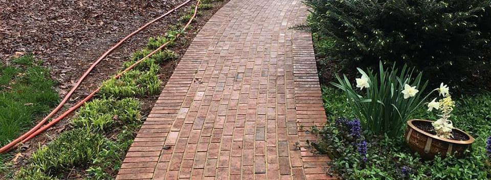Power Washing Brickway: After