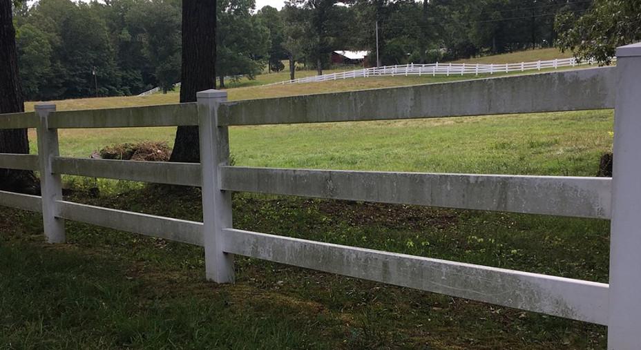 Power Washing Fence: Before