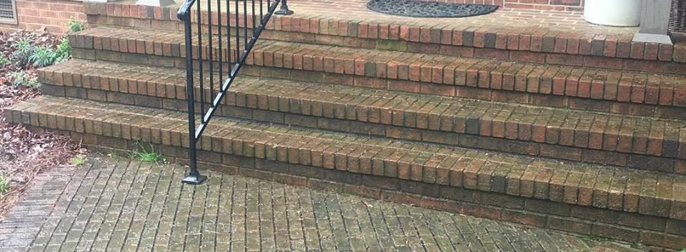 Power Washing Brickway: Before