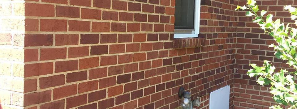 Power Washing Brick: After