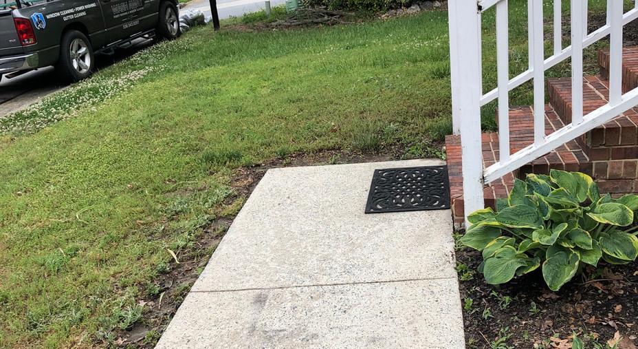 Sidewalk Power Washing: After