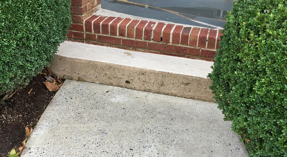 Power Washing Sidewalk: After