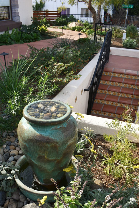 Landscape Entry with Water Feature