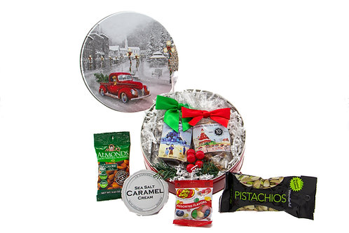 Round Holiday Tins (Small) - 5 designs