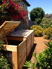 Compost Bins in Encinitas Landscape