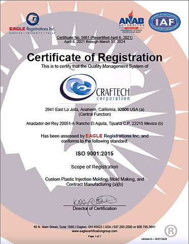 Craftech ISO 9001_2015 Certification