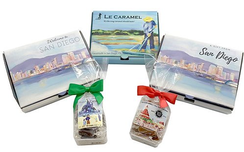 Petit Le Caramel Gift Boxes (3 designs—Le Caramel, Welcome to San Diego and A Gi
