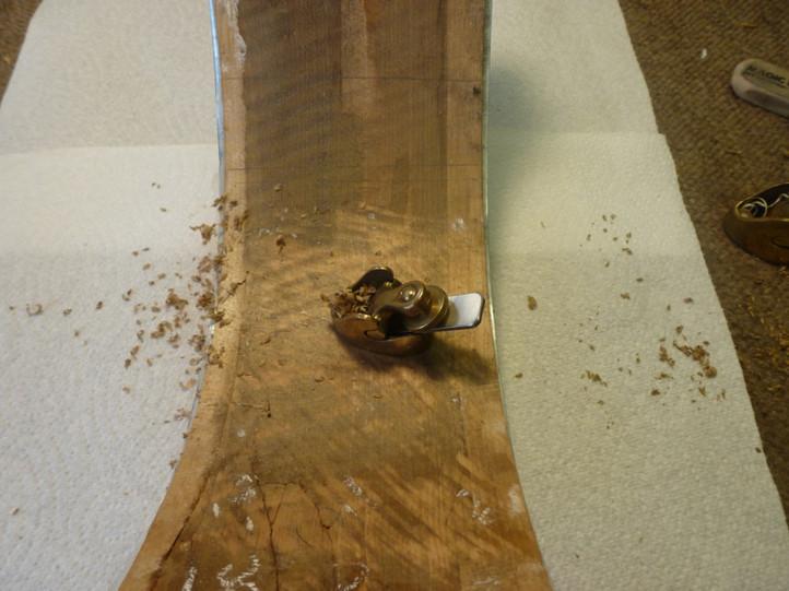 Removing wood on rib